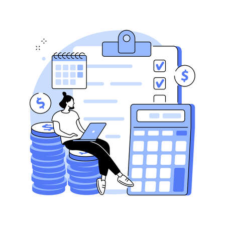 Budget planning abstract concept vector illustration.