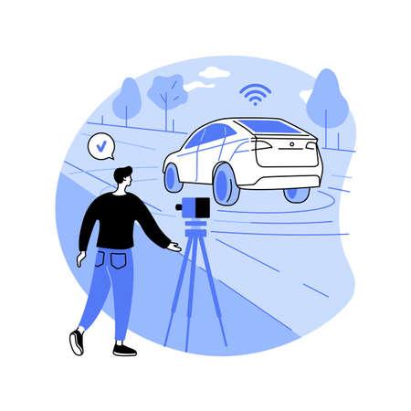 Speed control abstract concept vector illustration. Vector Illustratie