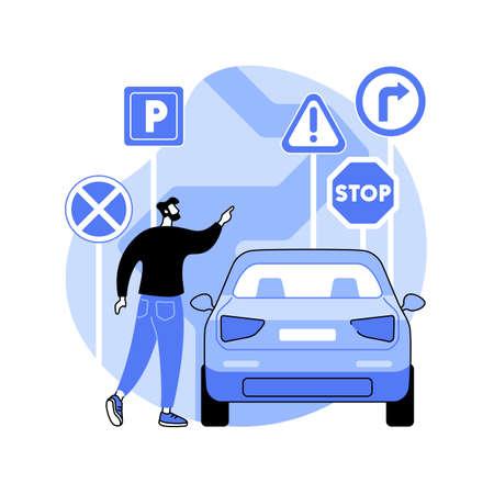 Traffic signs abstract concept vector illustration. Ilustración de vector