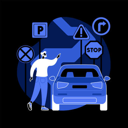 Traffic signs abstract concept vector illustration.