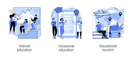 Professional learning abstract concept vector illustrations.