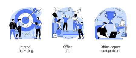 Employee engagement abstract concept vector illustrations. Vektorgrafik