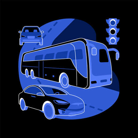 Surface transport abstract concept vector illustration.