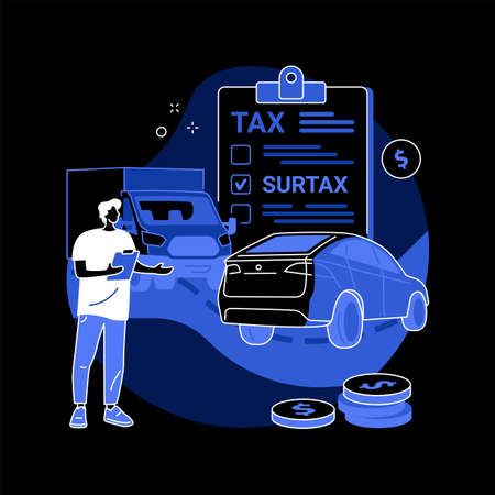 Transportation surtax abstract concept vector illustration.