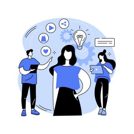 Consumer behaviour abstract concept vector illustration.