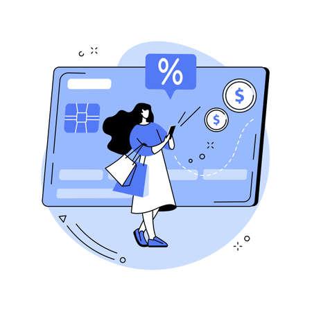 Debit card abstract concept vector illustration.