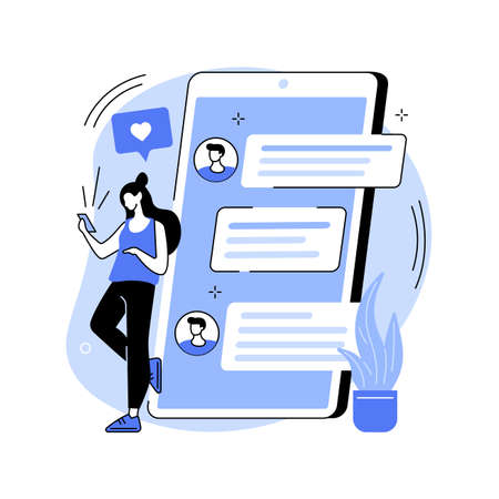 Messaging application abstract concept vector illustration.