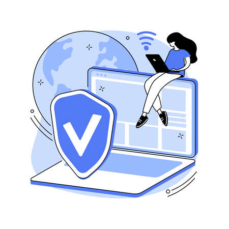 VPN access abstract concept vector illustration.