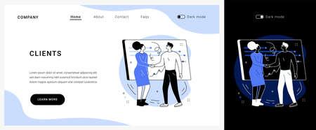 Clients vector concept landing page.