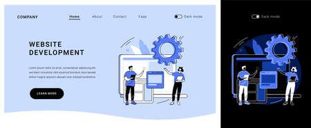 Website development vector concept landing page.