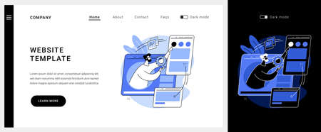 Website template vector concept landing page.  イラスト・ベクター素材