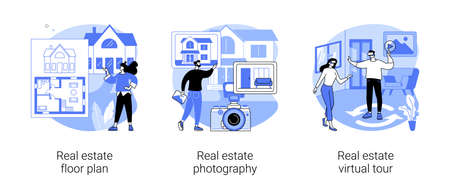 House listing abstract concept vector illustrations.