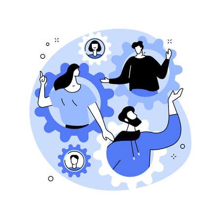 Social role abstract concept vector illustration. Vecteurs