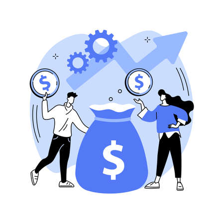 Investment fund abstract concept vector illustration. Vecteurs