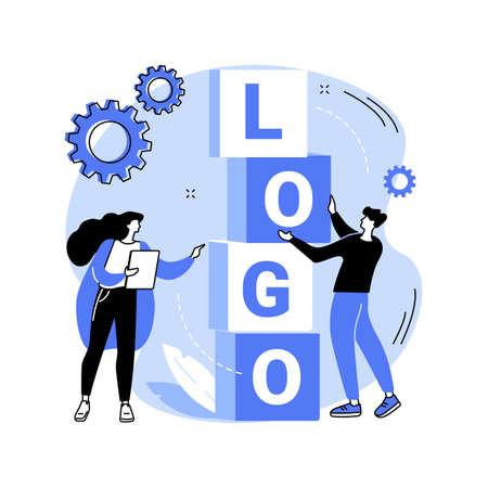 Logo design abstract concept vector illustration.