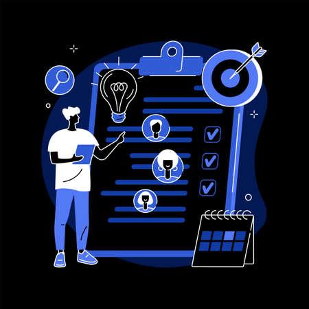 Project management abstract concept vector illustration. Ilustração