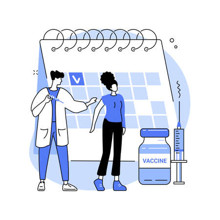 Vaccination of adults abstract concept vector illustration.
