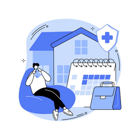 Sick leave abstract concept vector illustration.