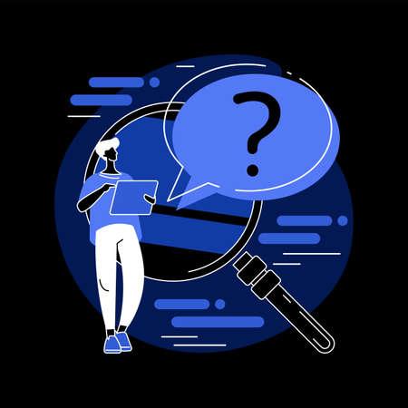 FAQ abstract concept vector illustration.