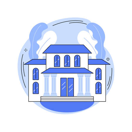 Private residence abstract concept vector illustration.