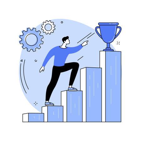 Motivation abstract concept vector illustration. Иллюстрация