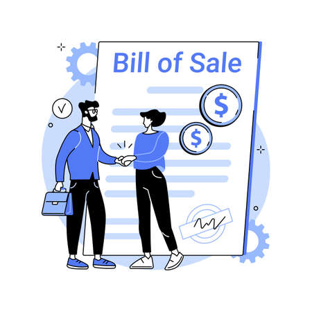 Bill of sale abstract concept vector illustration.