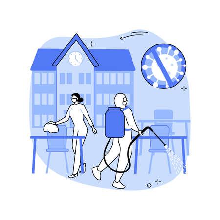 School sanitation abstract concept vector illustration.