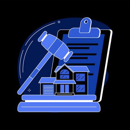 Auction house abstract concept vector illustration. Ilustração