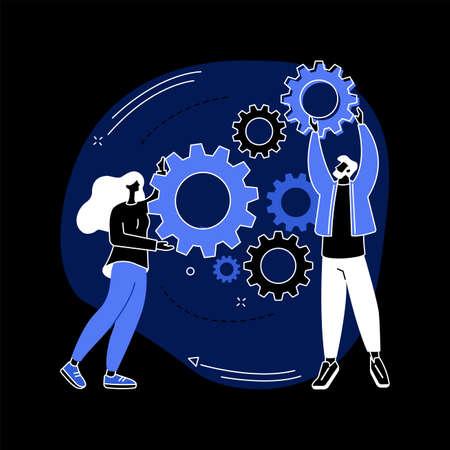 Collaboration abstract concept vector illustration. Ilustração