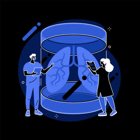 Lab-grown organs abstract concept vector illustration.