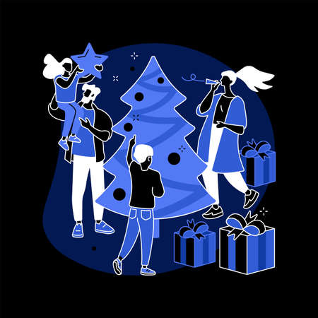 Winter holidays abstract concept vector illustration.