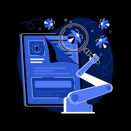 Automated testing abstract concept vector illustration.