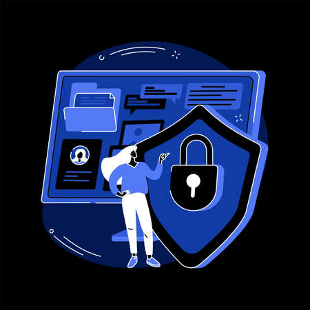 Information privacy abstract concept vector illustration.