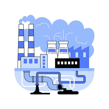 Industrial pollution abstract concept vector illustration.