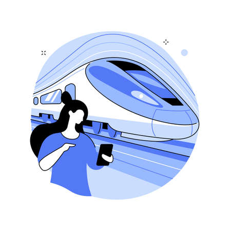 High-speed transport abstract concept vector illustration.