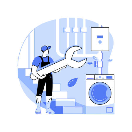 Basement services abstract concept vector illustration.