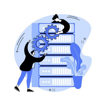 Big data tools abstract concept vector illustration.