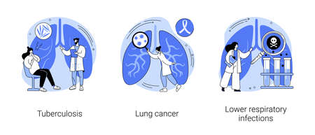 Lung disease abstract concept vector illustrations. Vector Illustration