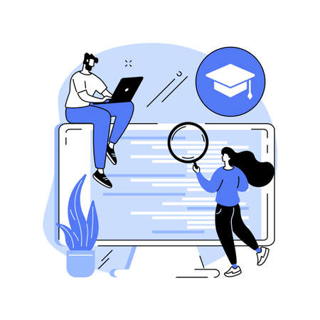 IT management courses abstract concept vector illustration.