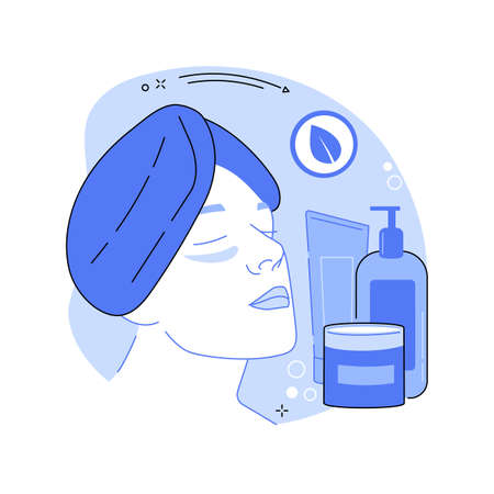 Skincare abstract concept vector illustration.
