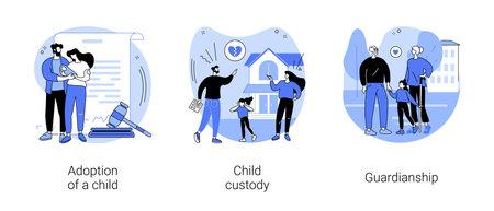 Parenting abstract concept vector illustrations. Vecteurs
