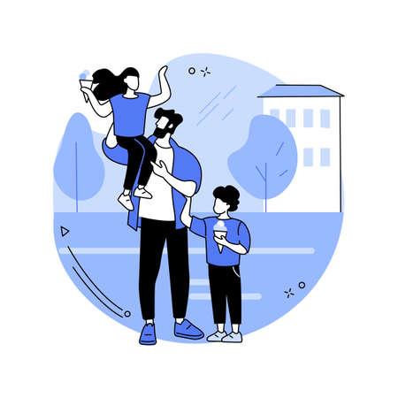 Modern dads abstract concept vector illustration. Ilustração