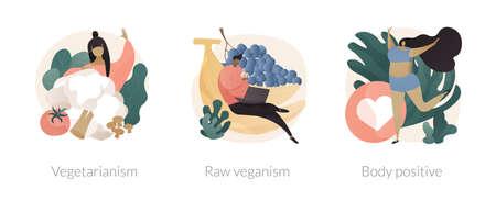 Healthy lifestyle abstract concept vector illustrations. Ilustración de vector