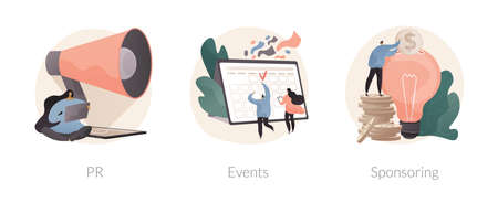 Website navigation bar abstract concept vector illustrations.