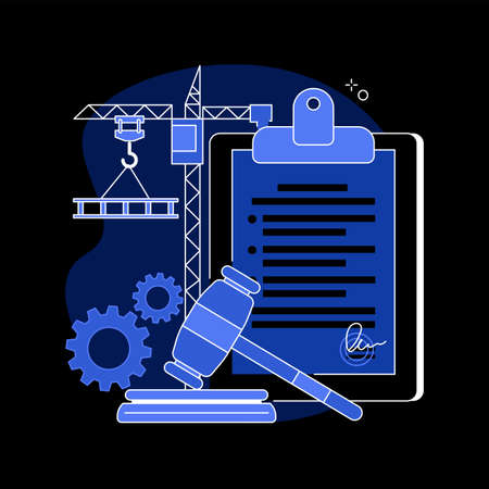Building permit abstract concept vector illustration. Illustration