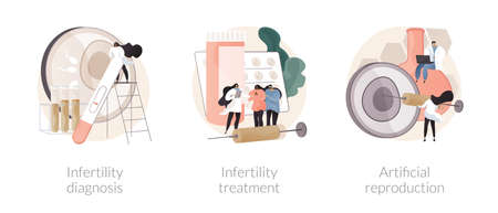 Family planning abstract concept vector illustrations.