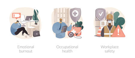 Employee health abstract concept vector illustrations.