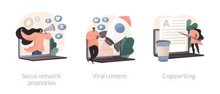 Digital marketing abstract concept vector illustrations.