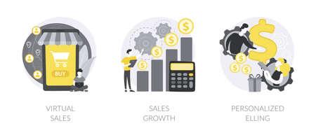 Sales manager abstract concept vector illustrations. Ilustración de vector