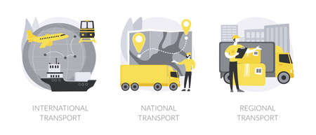 Global logistics abstract concept vector illustrations.
